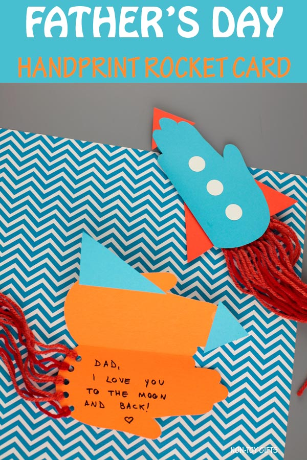 Father's Day handprint rocket card