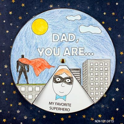 Father's Day superhero spinner craft