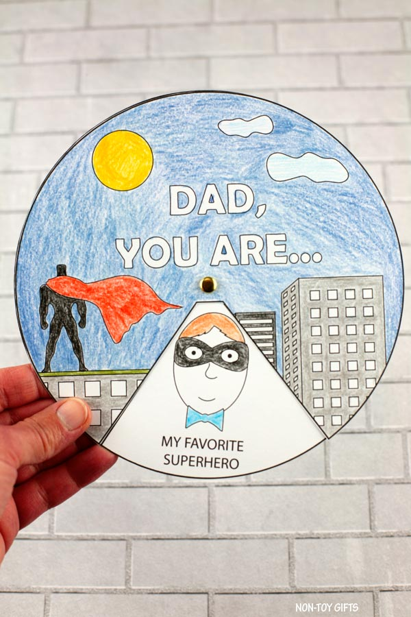 Father's Day superhero spinner