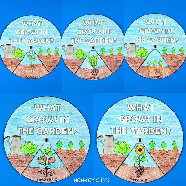 garden spinner craft for classroom