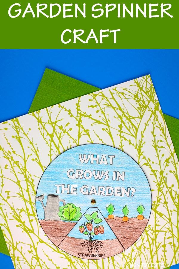 garden spinner craft for kids