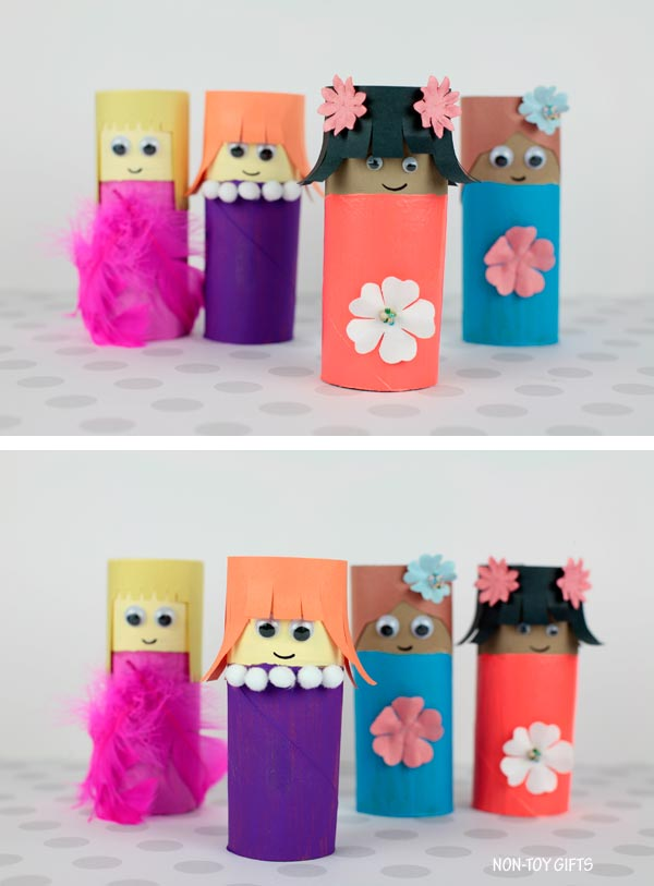 paper roll Mother's Day craft for kids
