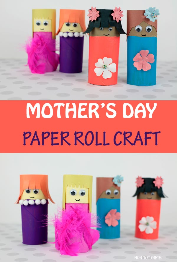 paper roll Mother's Day craft