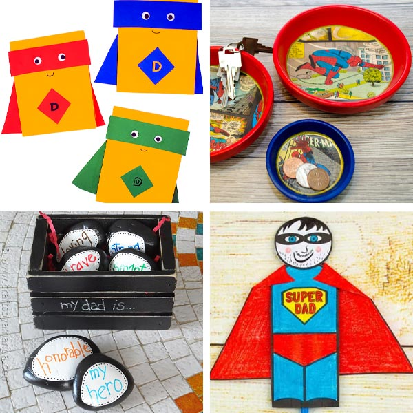 Father's Day superhero dad crafts 2