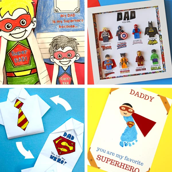 Father's Day superhero dad crafts 3