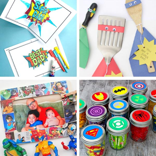 Father's Day superhero dad crafts 4