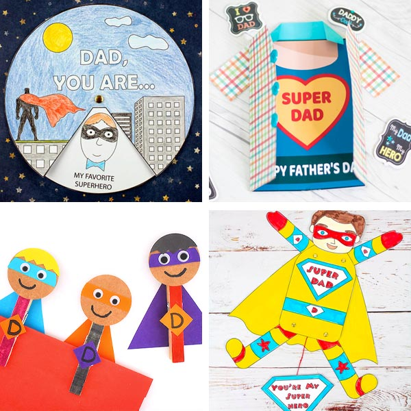 Father's Day superhero dad crafts 1