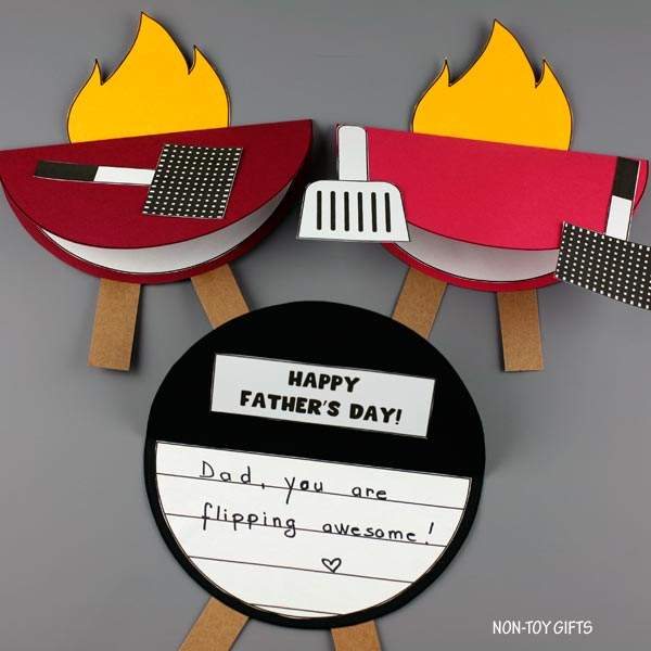 King of the grill cards for preschoolers to make for dad