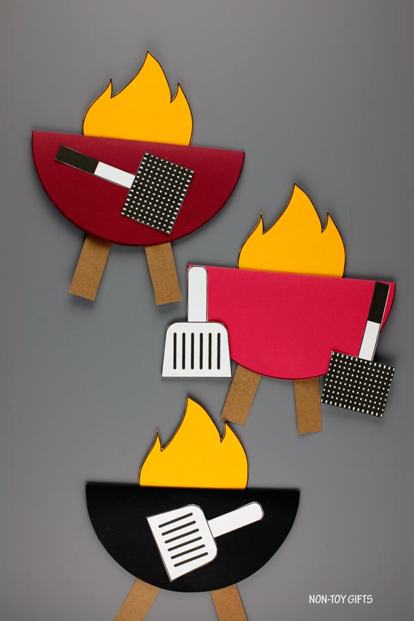 King of the grill card kids can make for dad