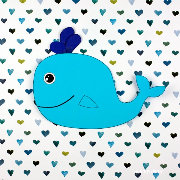 Paper whale craft for preschoolers