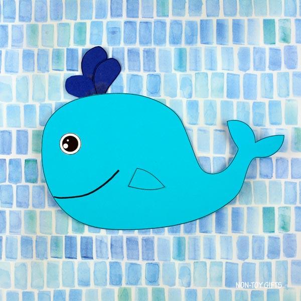Ocean animal craft: Paper whale craft