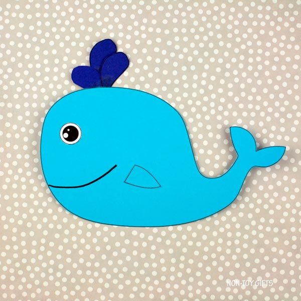 Paper whale craft for kids preschool