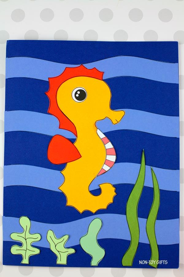 Seahorse craft for preschoolers