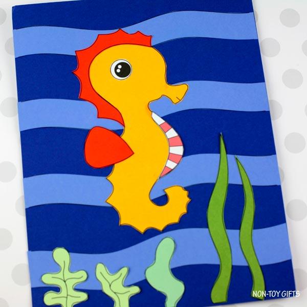 Seahorse craft for summer ocean
