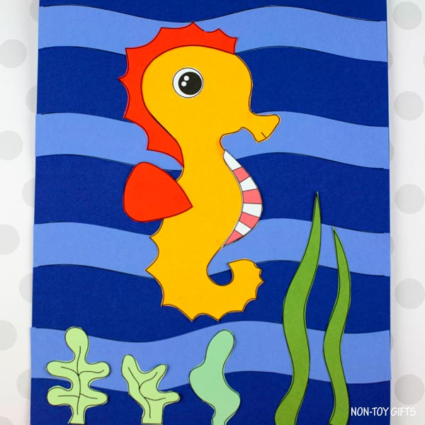 Seahorse craft for kids