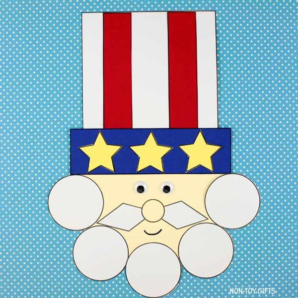 4th of July Shape Uncle Sam craft