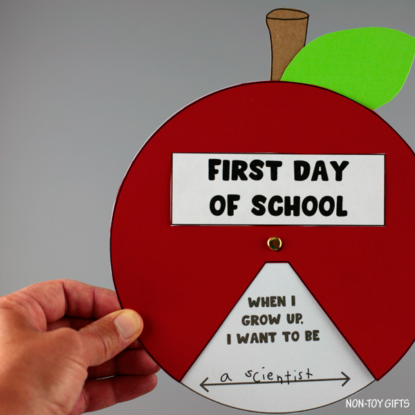 First day of school apple spinner fall craft