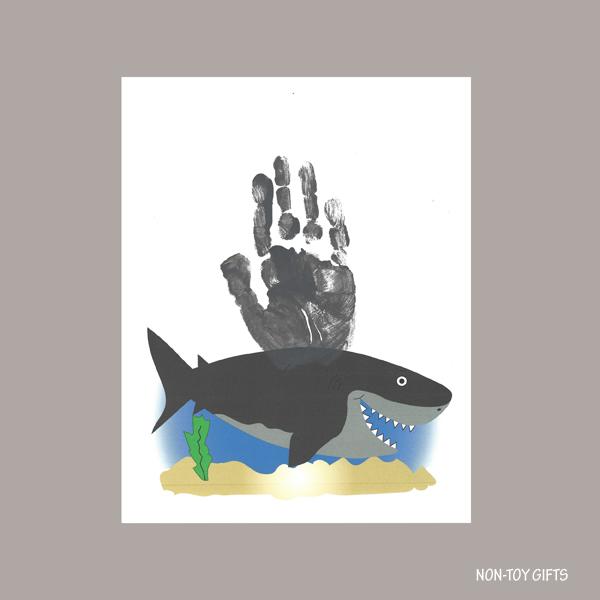 Ocean handprint animals: shark