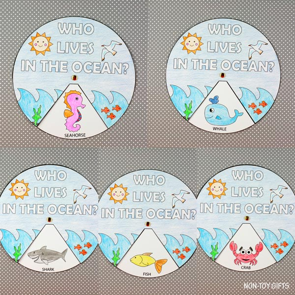 Who lives in the ocean? summer craft for kids