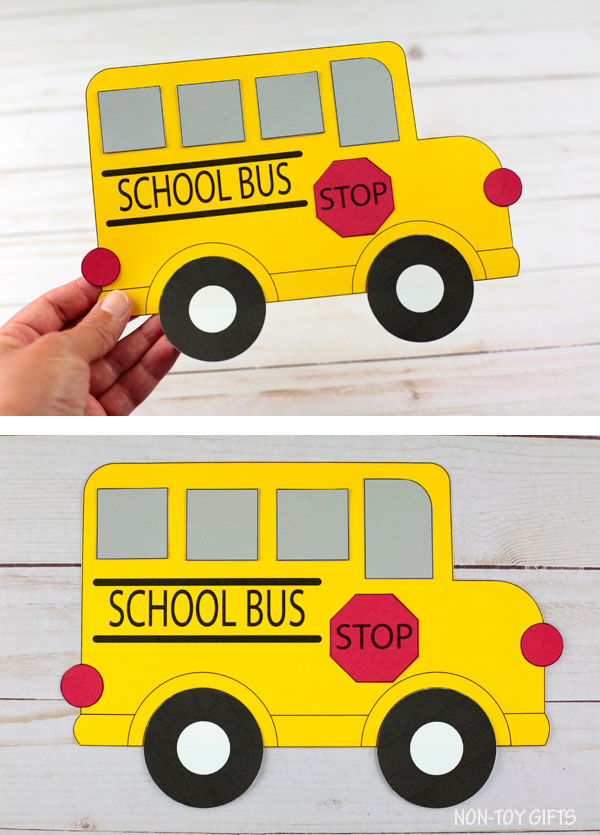School bus craft craft for back to school