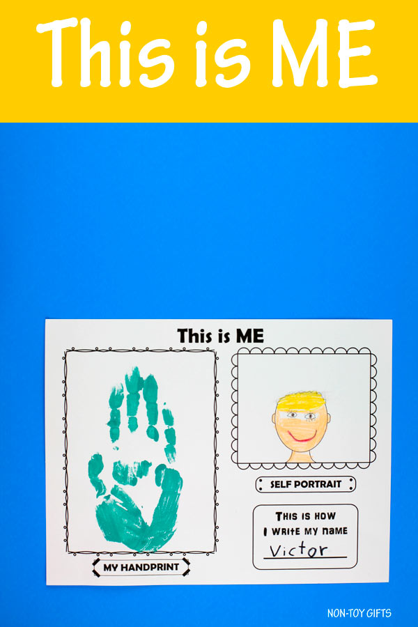 This is me! back to school printable