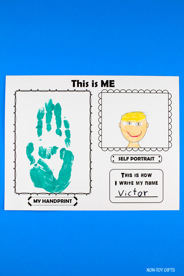 This is me! printable for first day of school