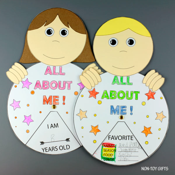All about me back to school craft with template