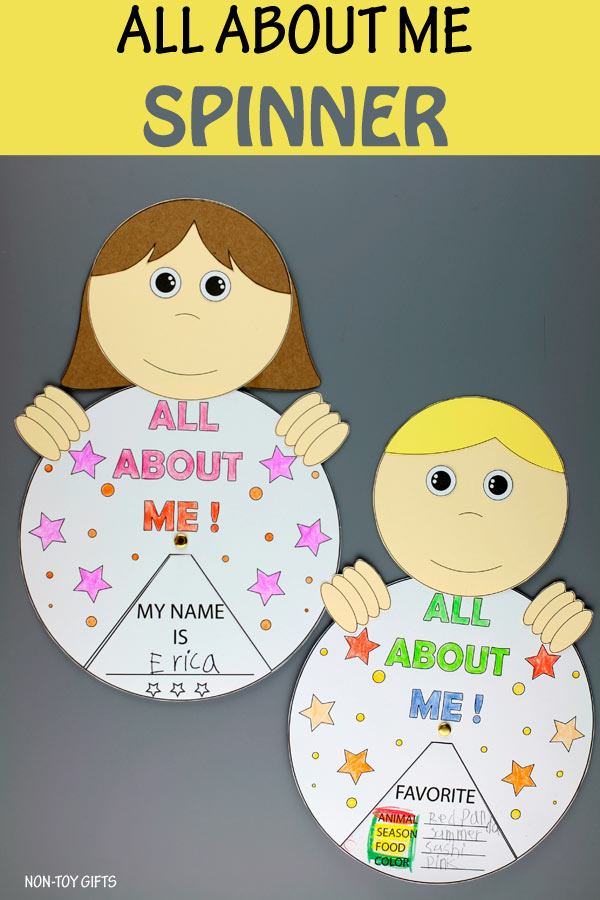 All about me spinner craft