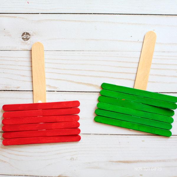glued craft sticks