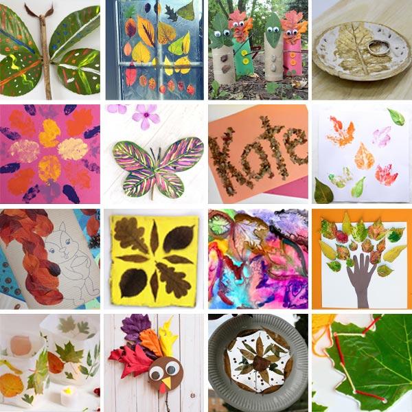 Real leaf crafts for kids