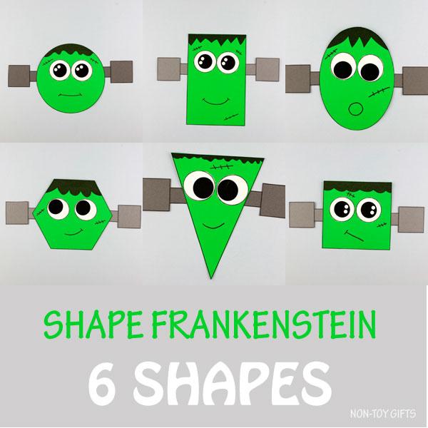 Frankenstein shape craft 6 shapes