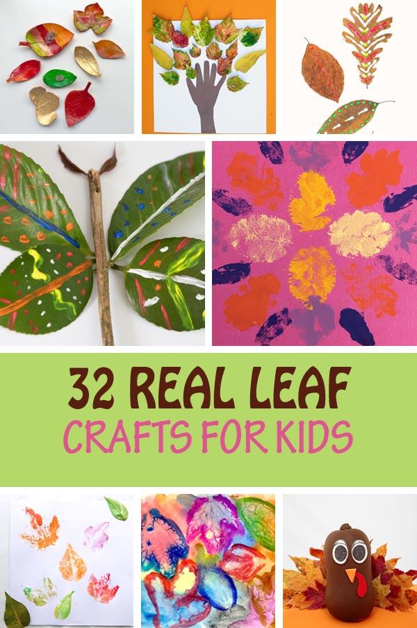 32 Real leaf crafts