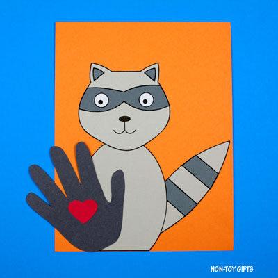 The Kissing Hand handprint craft