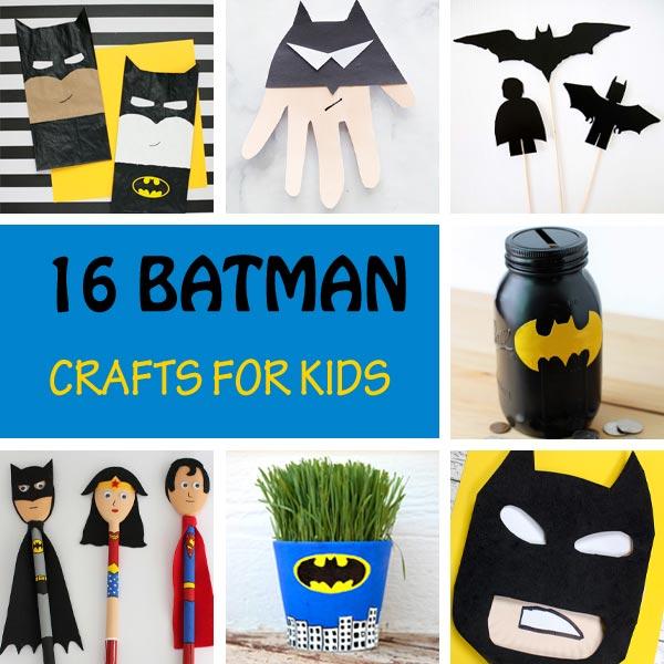 Batman crafts for kids. Make Batman puppets, mask, interactive crafts and more