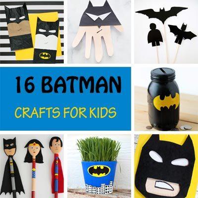 16 Batman crafts for kids