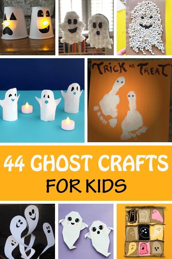 Halloween ghost crafts for preschoolers and older kids