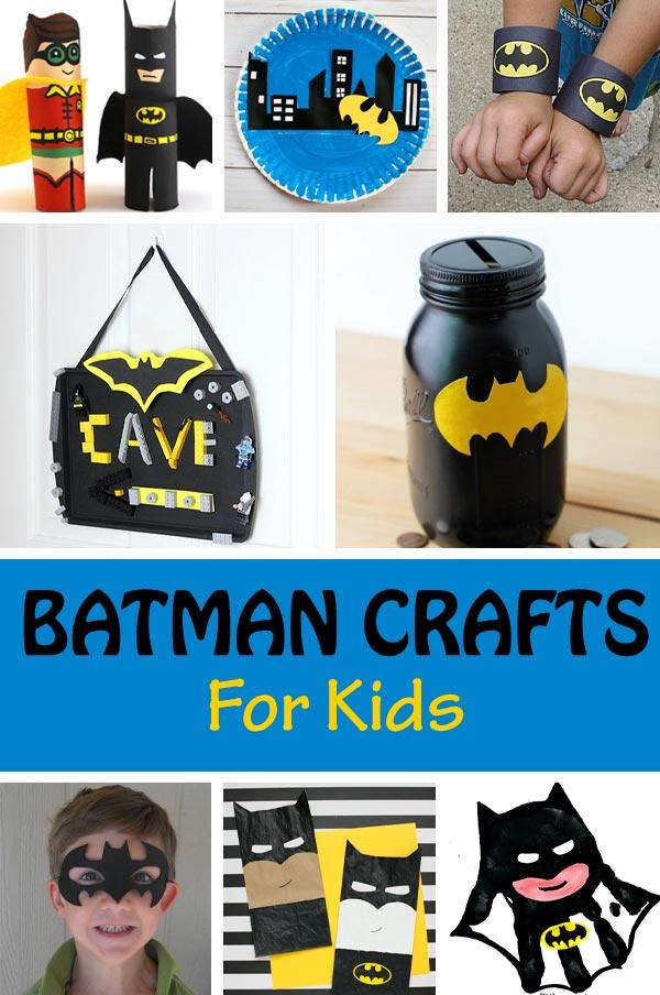 Batman crafts for kids to celebrate Batman Day