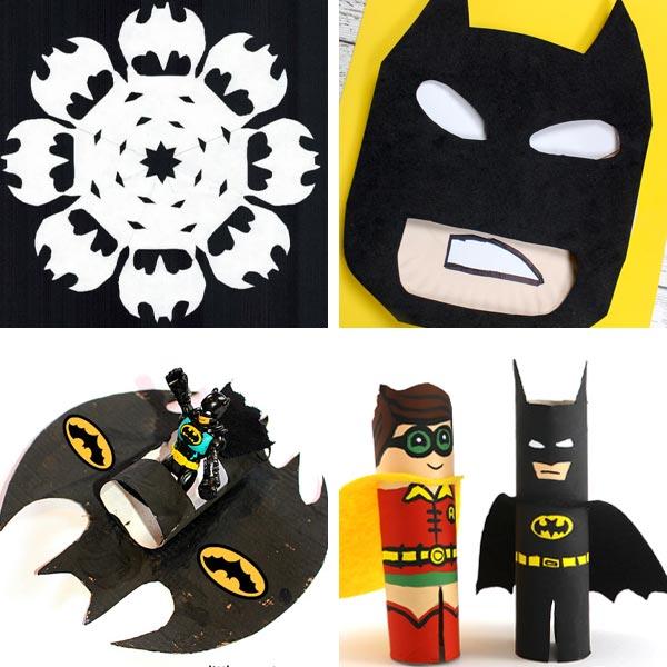 Batman snowflake, paper plate Batman, Batmobile craft and Batman and Robin craft for kids