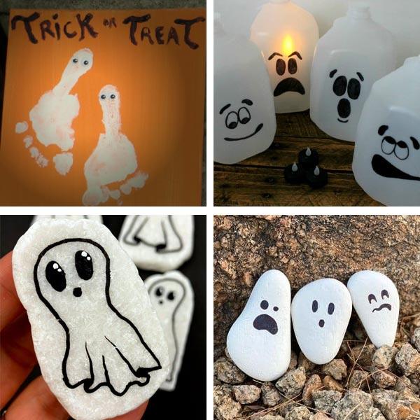 Ghost footprint, milk jugs and rocks