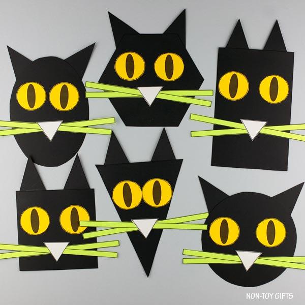 shape black cat craft