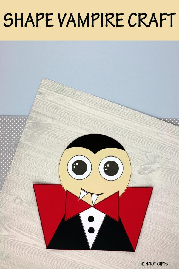 Shape vampire craft for kids to make for Halloween