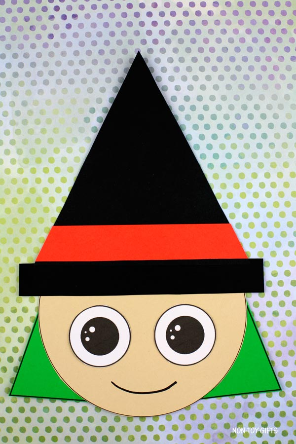 Witch shape craft for kids for Halloween