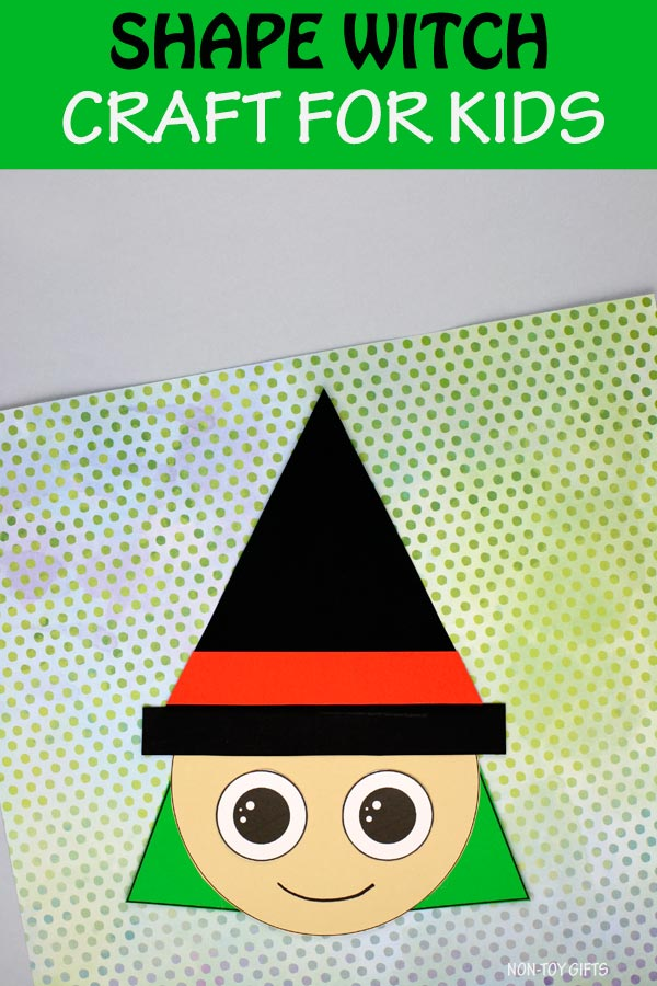 Shape witch craft for kids to make for Halloween